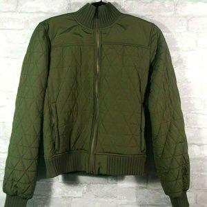 Prana Diva Bomber Jacket Olive Cargo Green Medium